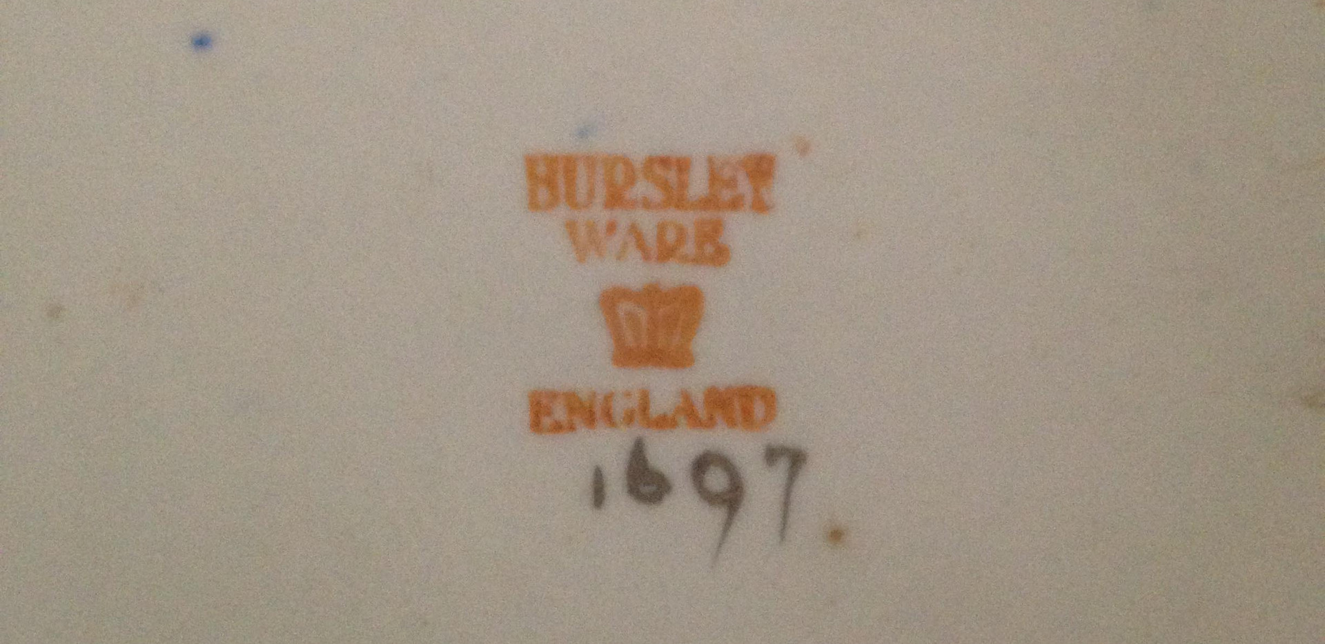 Bursley Ware Charger Factory Marks