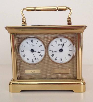 L'Epee Dual Zone Clock
