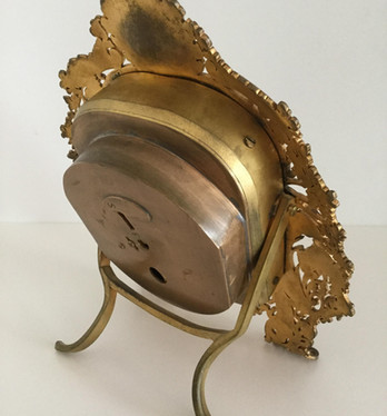 English Gilt Bronze Strut Clock
