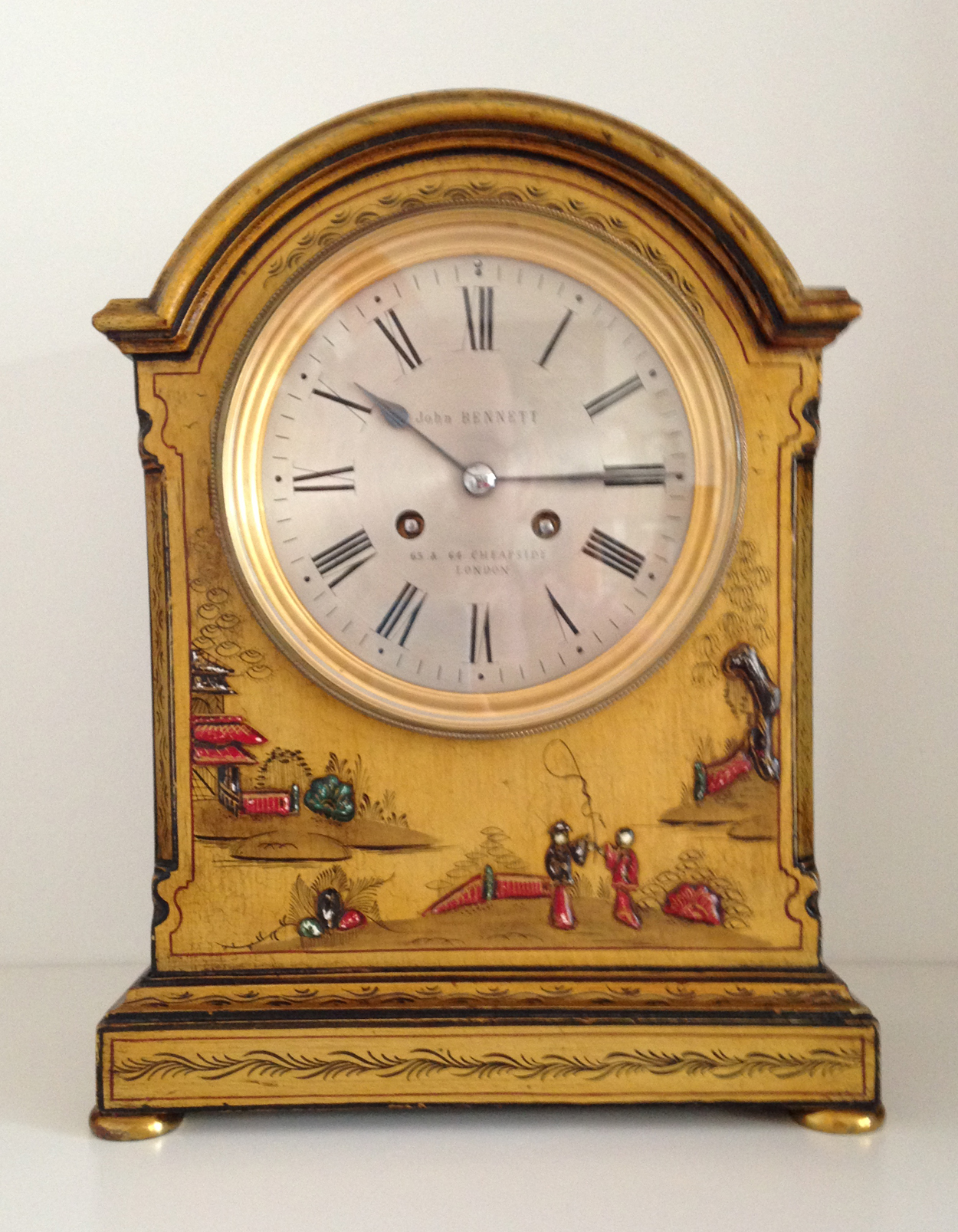 Gold Chinoiserie Clock