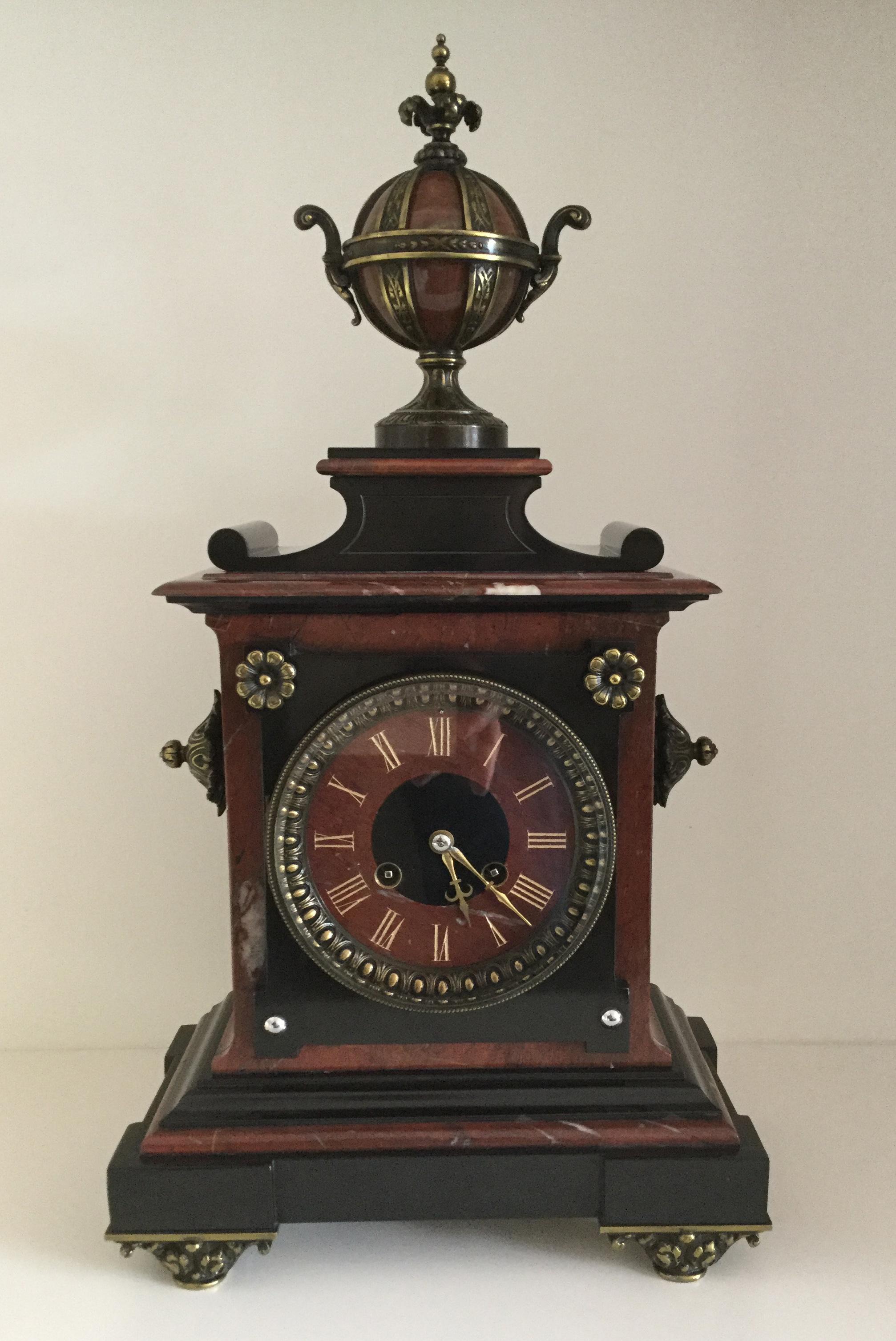 Louis XV Style Mantel Clock