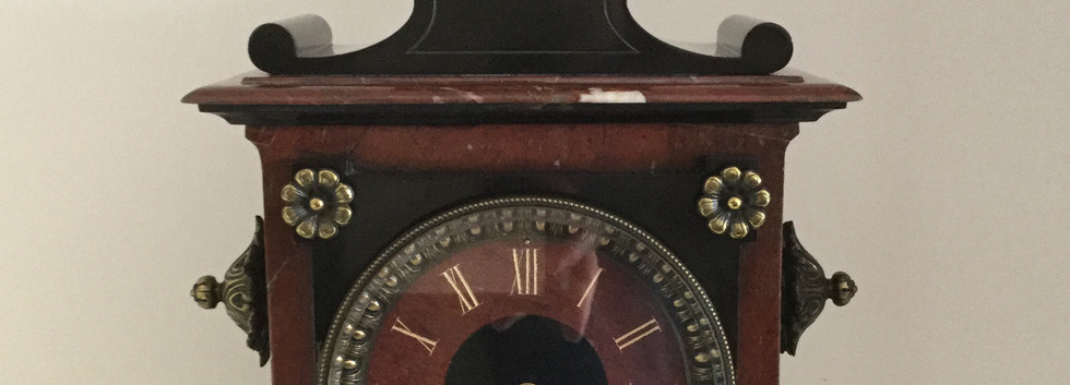 Louis XV Style Marble Clock