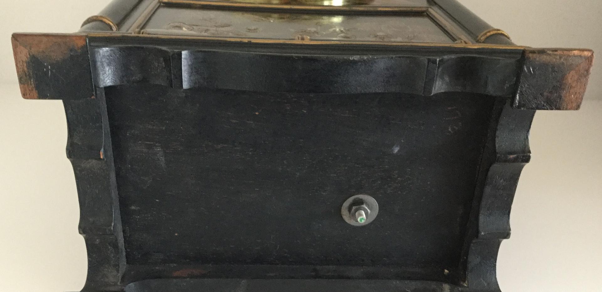 Tiffany Black Chinoiserie Clock Base