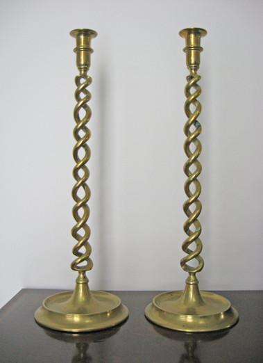Victorian BarleyTwist Candlesticks