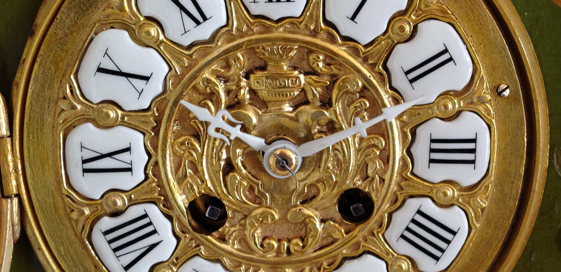 Louis XV Style lock Face Detail