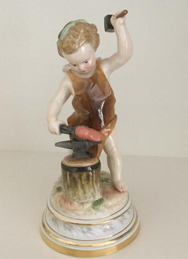 Meissen Cupid Blacksmith