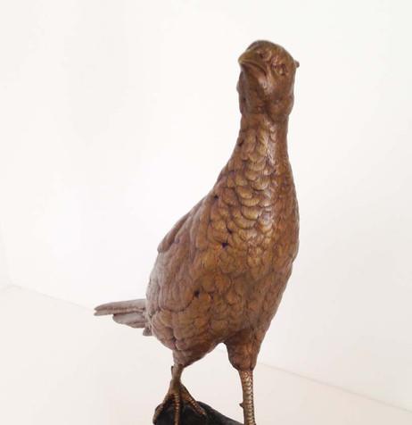 Leon Bureau Pheasant Bronze Circa 1900