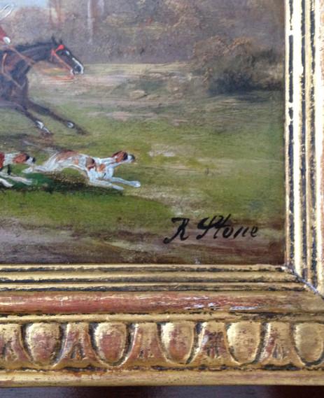Rober Stone Oil On Board Circa 1850