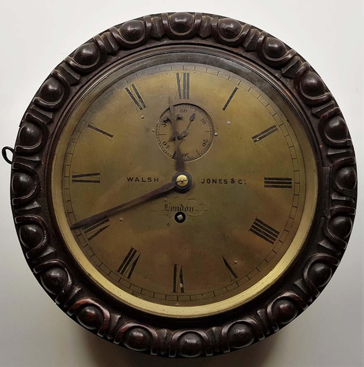 Walsh Jones & Co Fusee Marine Clock