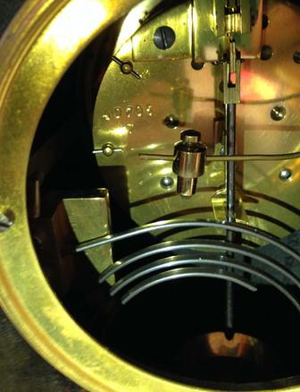Black Chinoiserie Break Arch Clock