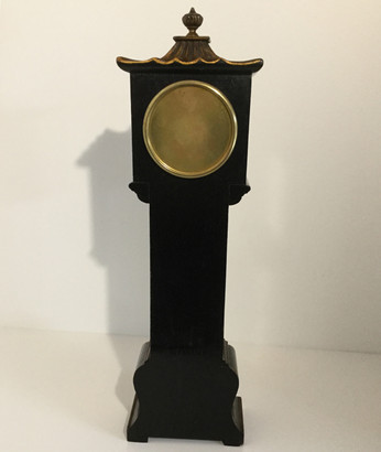 Black Chinoiserie Miniature Longcase Clock, Verso