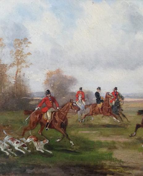 Robert Stone Hunting Scene