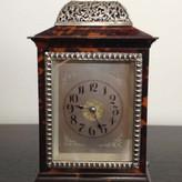 A fine Small Tortoiseshell & Silver Carriage Clock