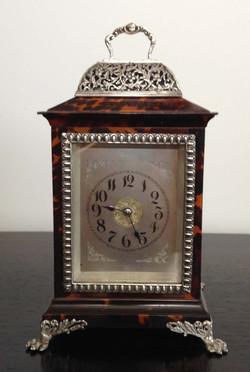 John Batson Tortoiseshell and Silver Carriage Clock