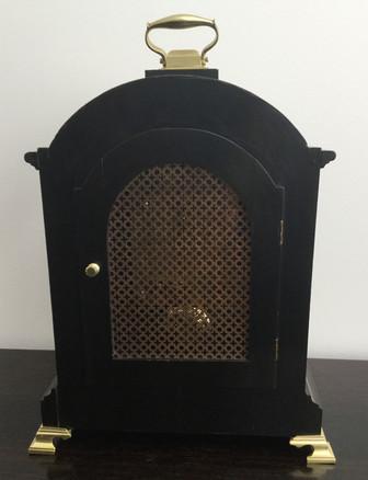 Black Chinoiserie Fusee Clock, Verso