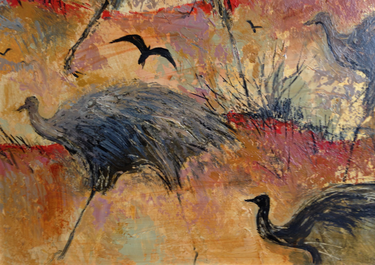 Colleen M Parker Emus & Crows Circa 1980