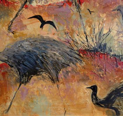 Colleen M Parker Emus & Crows Circa 1980