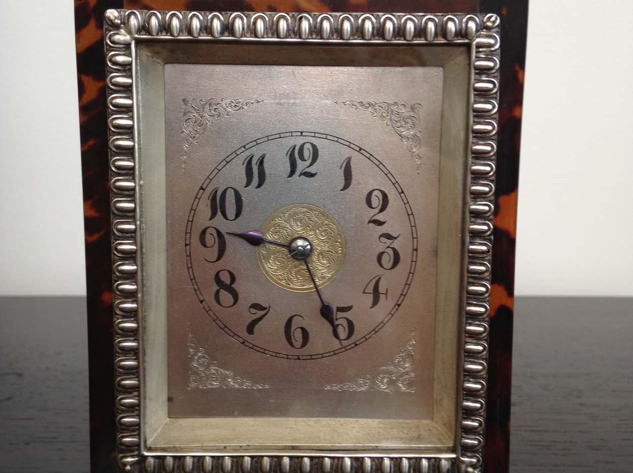 John Batson Tortoishell & Silver Clock