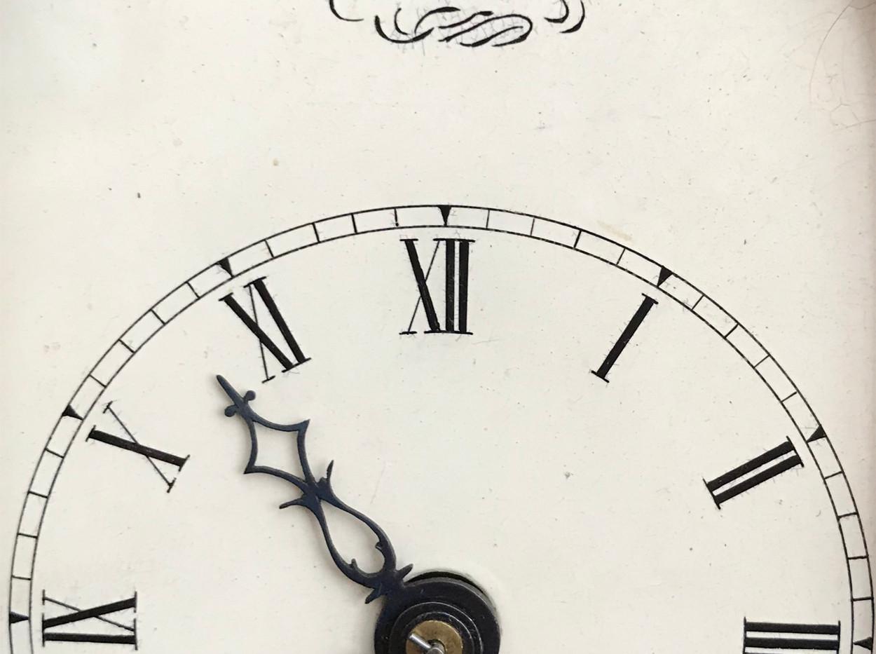 George III Miniature Fusse Mantel Clock