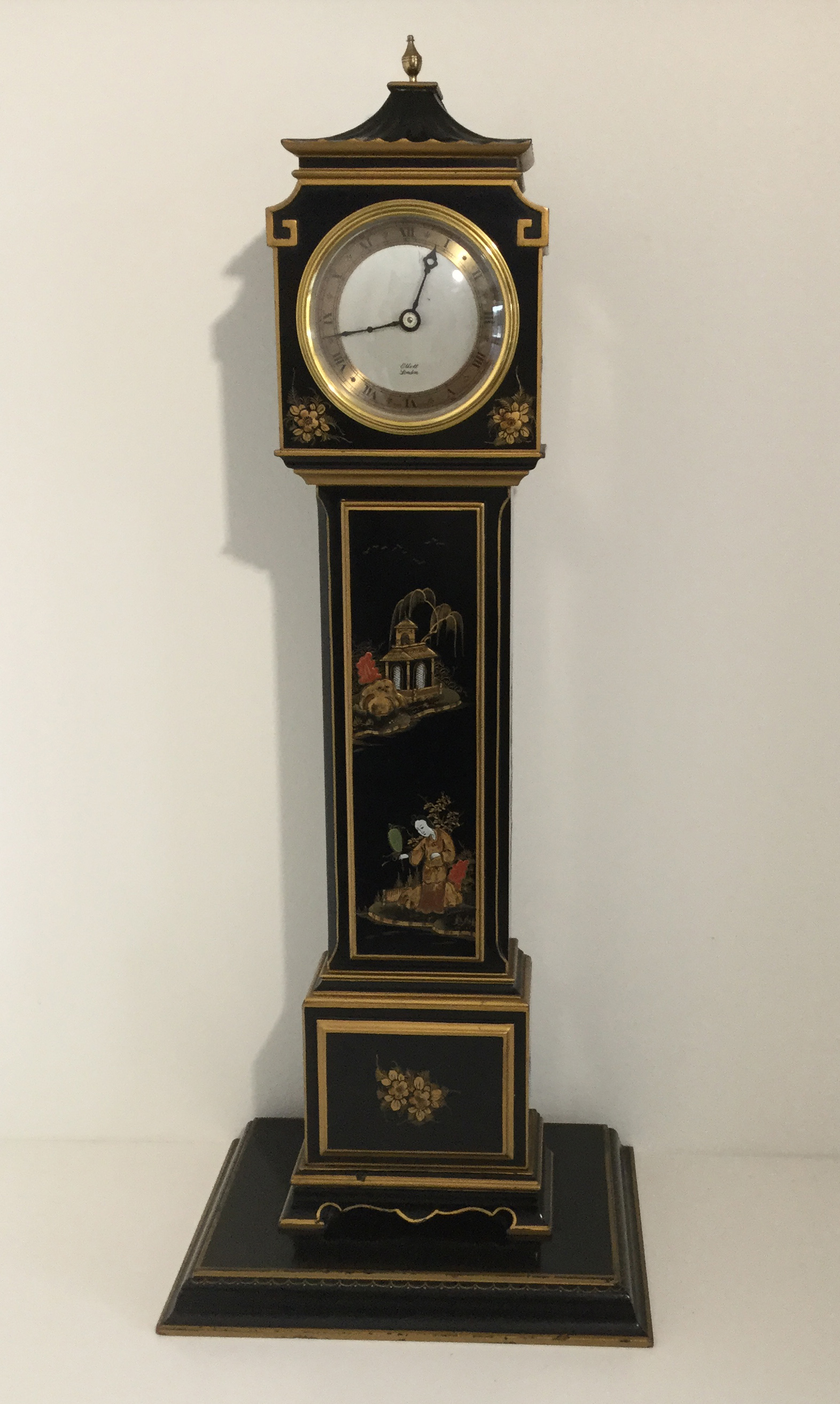 Black Chinoiserie Miniature Longcase