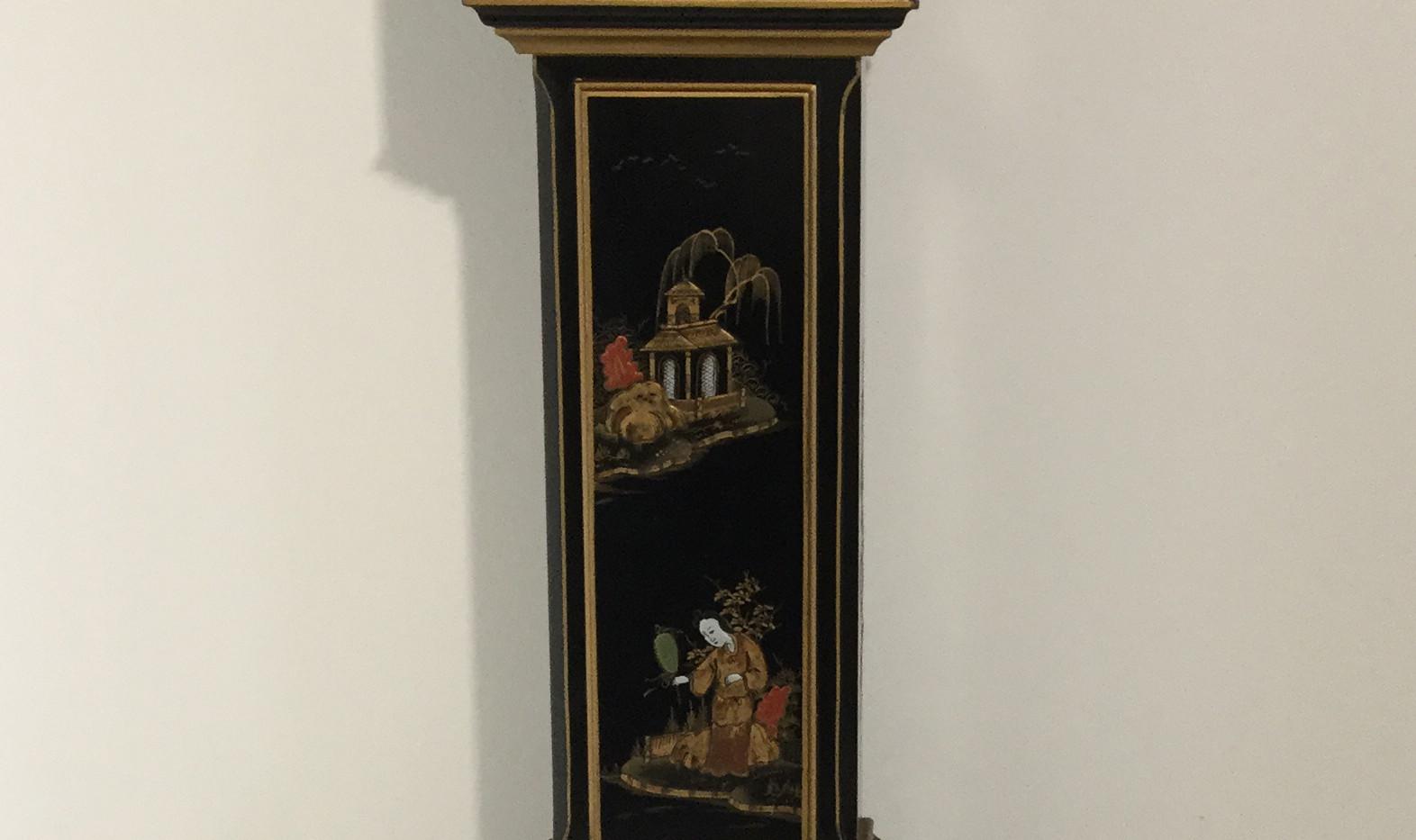 Black Miniature Longcase Clock