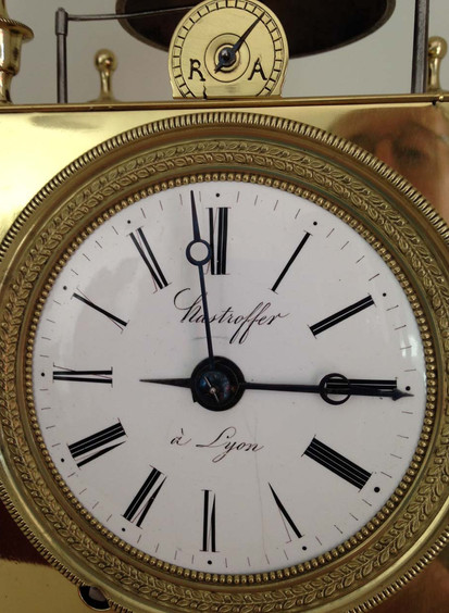 French Capucine Clock Face
