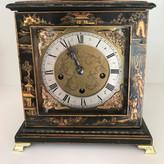 Lenzkirch Black Chinoiserie Mantel Clock Circa 1884