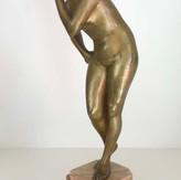 Raphael Nannini Bronze Female Figurine