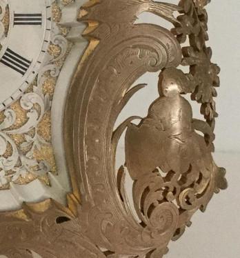 Gilt Bronze English Strut Clock
