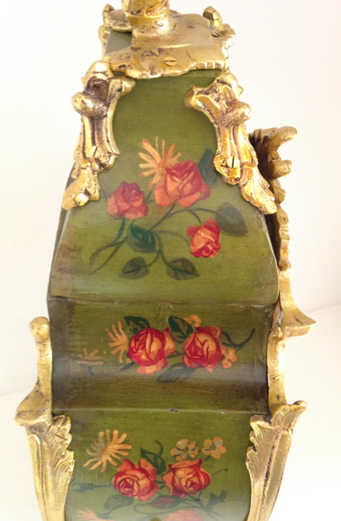 Louis XV Style Painted Clock
