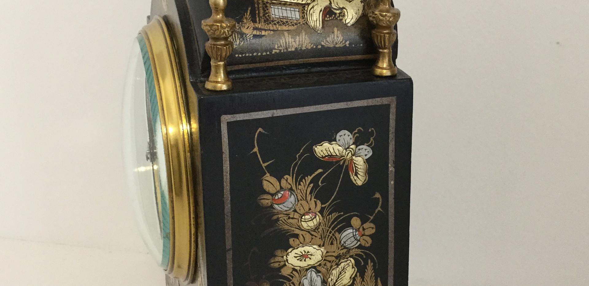 Mappin & Webb Black Chinoiserie Clock