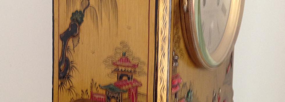 Gold Chinoiserie Break Arch Clock
