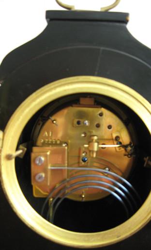 Black Chinoiserie Mantel Clock
