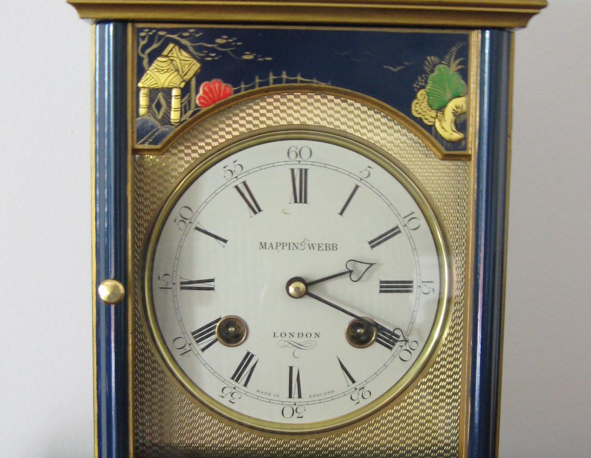 Blue Chinoiserie Bracket Clock