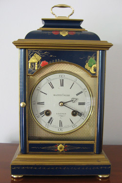 Mappin & Webb Blue Chinoiserie Clock