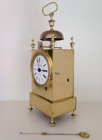 French Campaign Officer Clock