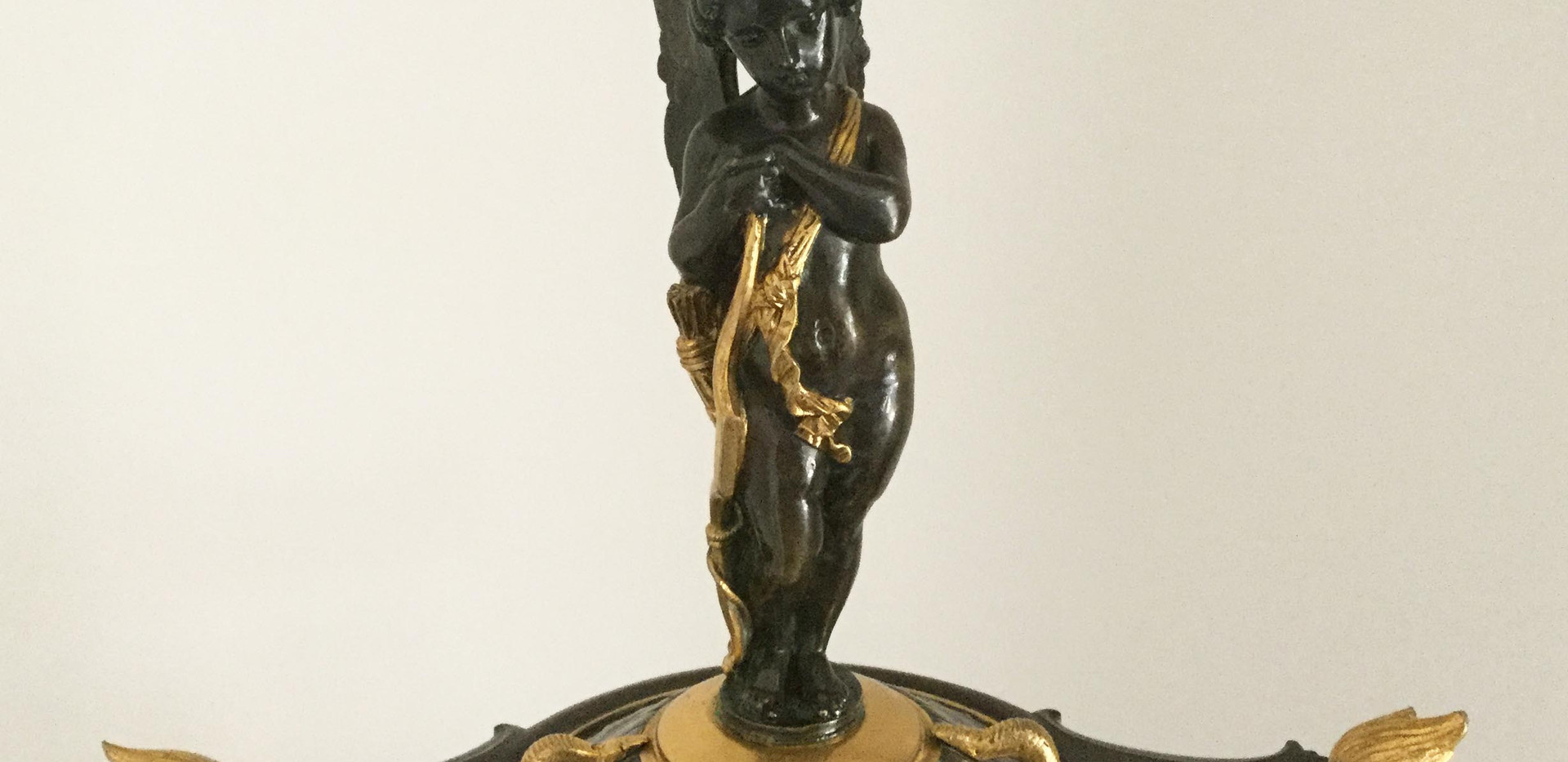 Charpentier Bronze and Marble Clock