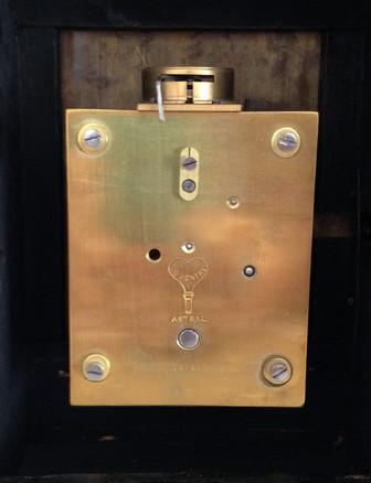 Black Chinoiserie George III Style Mantel Clock