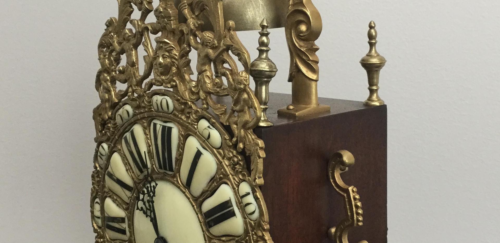 French Brass Lantern Clock