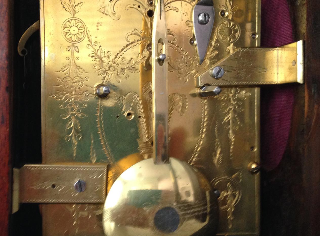 George III Twin Fusee Mantel Clock