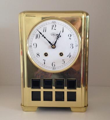 Lenzkirch Brass Art Deco Clock