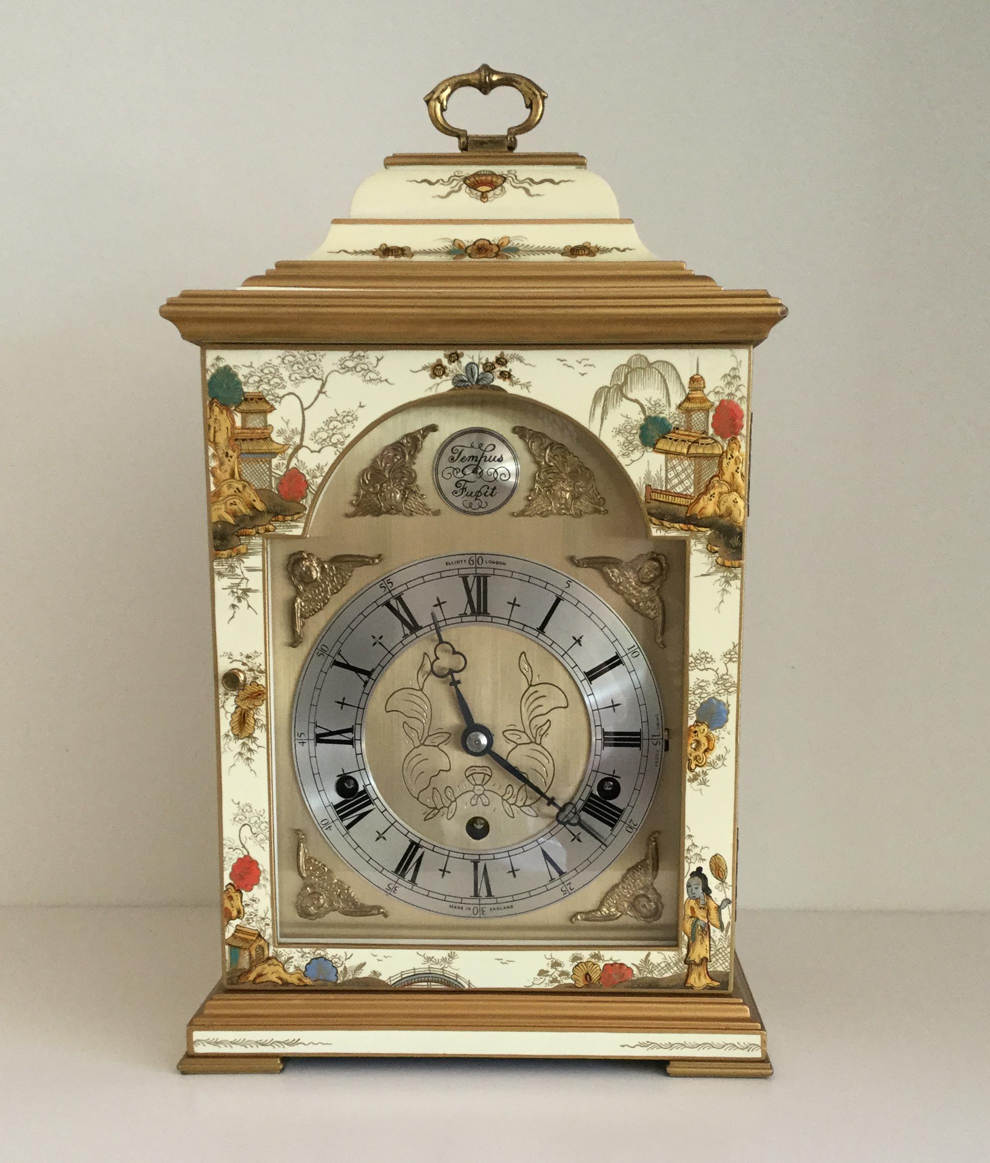 Elliott Cream Chinoiserie Clock