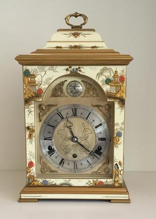 Cream Chinoiserie Bracket Clock