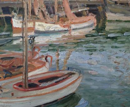 Oil On Board English Impressionist School
