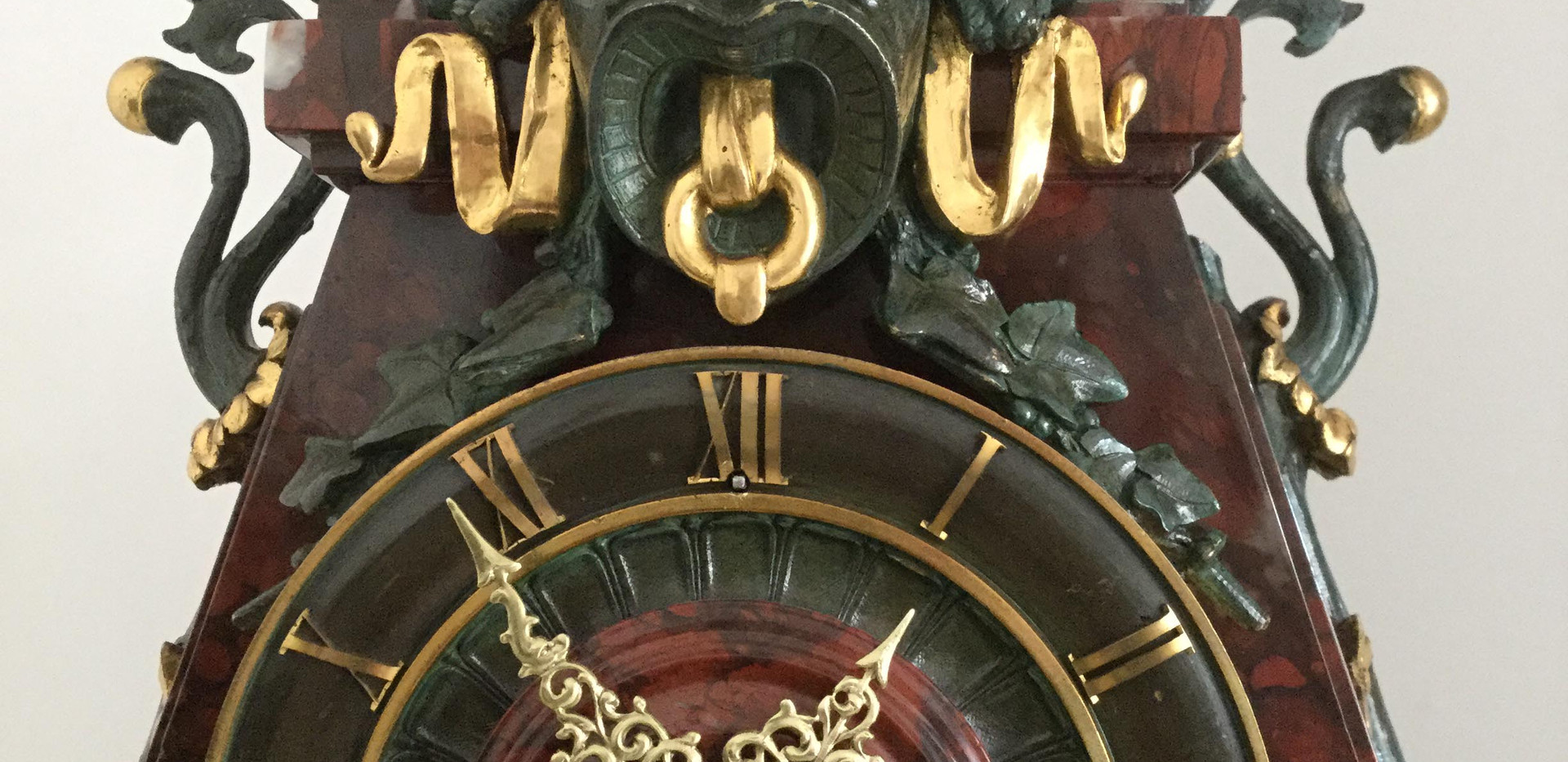 French Gilt and Marble Clock