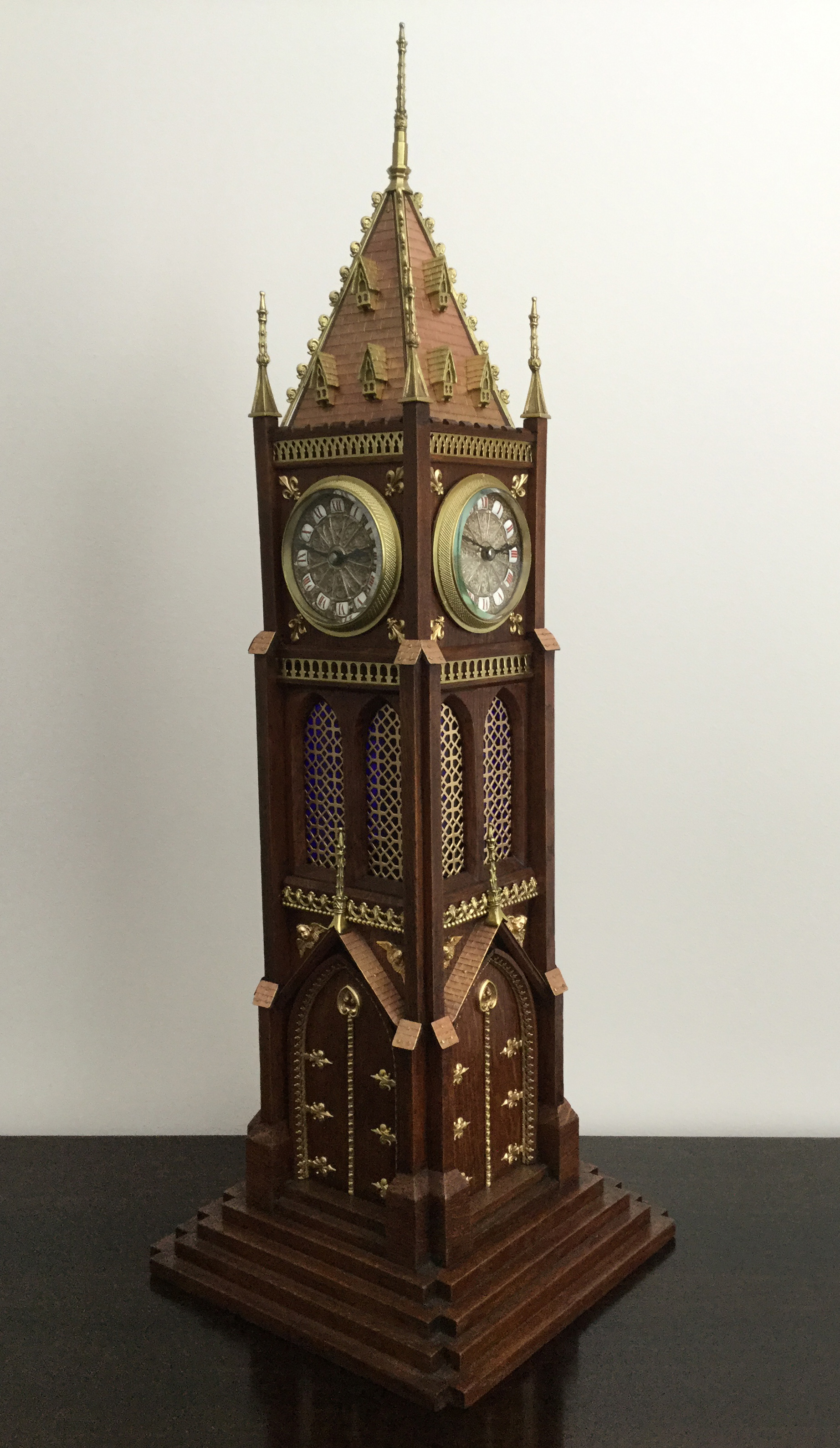 French Novelty 4 Face Tower Clock