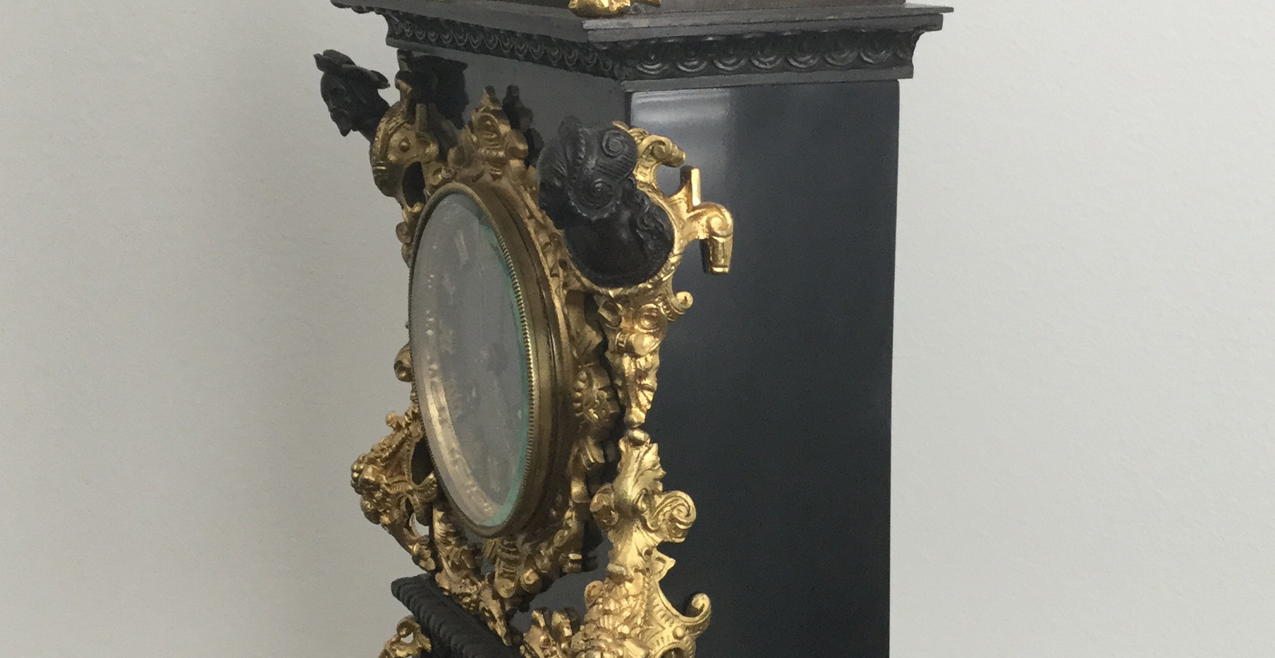 French Bronze and Slate Clock