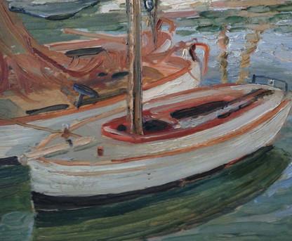 Impressionist Marine Oil On Board