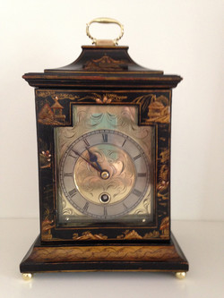 Astral of Coventry Black Chinoiserie Mantel Clock