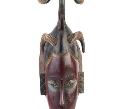 Horned African Face Mask